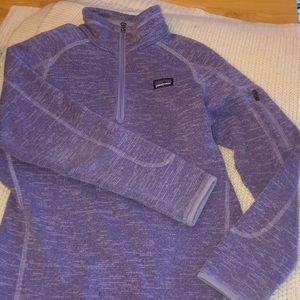 Girls Patagonia 3/4 zip pull over sweatshirt